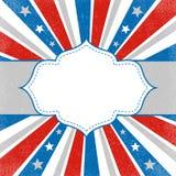 αμερικανική ανασκόπηση πατριωτική Στοκ εικόνες με δικαίωμα ελεύθερης χρήσης
