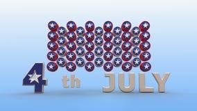 αμερικανική ανεξαρτησία &eta απόθεμα βίντεο