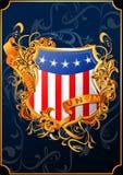 Αμερικανική ασπίδα (διάνυσμα) Στοκ εικόνα με δικαίωμα ελεύθερης χρήσης