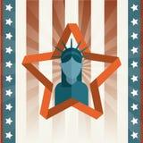 Αμερικανική αφίσα Στοκ Εικόνες