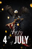 Αμερικανική γιορτή 4η του Ιουλίου american bald eagle flag Απεικόνιση αποθεμάτων