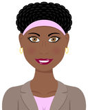 Αμερικανική γυναίκα επιχειρησιακού Afro Στοκ εικόνα με δικαίωμα ελεύθερης χρήσης