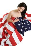 αμερικανική γυναίκα Στοκ Εικόνα