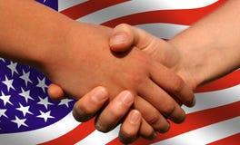 αμερικανική διαπραγμάτε&ups στοκ φωτογραφία με δικαίωμα ελεύθερης χρήσης
