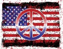 αμερικανική ειρήνη Στοκ Φωτογραφίες