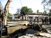 Αμερικανική επίθεση προξενείων στο Peshawar, Πακιστάν στοκ εικόνα