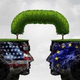 Αμερικανική ευρωπαϊκή συνεργασία Στοκ φωτογραφία με δικαίωμα ελεύθερης χρήσης