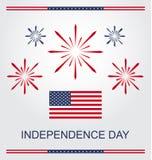 Αμερικανική ημέρα της ανεξαρτησίας Στοκ εικόνες με δικαίωμα ελεύθερης χρήσης