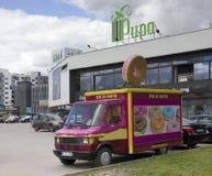 Αμερικανική δημιουργική πώληση donuts Στοκ εικόνα με δικαίωμα ελεύθερης χρήσης