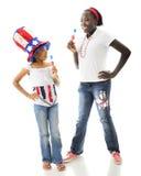 Αμερικανική διασκέδαση Popcicle Στοκ φωτογραφία με δικαίωμα ελεύθερης χρήσης