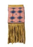 Αμερικανική ινδική διακοσμημένη με χάντρες τσάντα δερμάτων ελαφιού που απομονώνεται Στοκ Φωτογραφίες