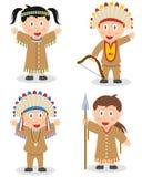 Αμερικανική ινδική συλλογή παιδιών απεικόνιση αποθεμάτων