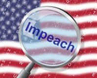 Αμερικανική κατηγορία Magnifier κατηγορίας για να απομακρύνει το διεφθαρμένο Πρόεδρο ή τον πολιτικό απεικόνιση αποθεμάτων