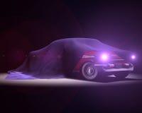 Αμερικανική κλασική παρουσίαση αυτοκινήτων Απεικόνιση αποθεμάτων