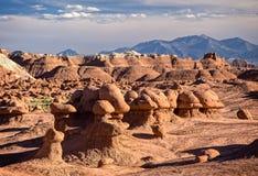 αμερικανική κοιλάδα γλυπτών κόκκινου ψαμμίτη λιβαδιών προέλευσης goblin φυσική απίστευτη Στοκ Φωτογραφία