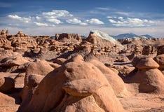 αμερικανική κοιλάδα γλυπτών κόκκινου ψαμμίτη λιβαδιών προέλευσης goblin φυσική απίστευτη Στοκ Φωτογραφίες