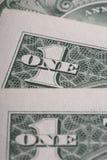 Αμερικανική μακροεντολή δολαρίων Εκλεκτική εστίαση Στοκ Εικόνα