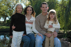 αμερικανική οικογένεια στοκ εικόνα