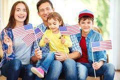 αμερικανική οικογένεια Στοκ φωτογραφία με δικαίωμα ελεύθερης χρήσης
