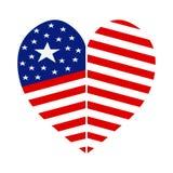 Αμερικανική πατριωτική καρδιά ημέρας Στοκ Εικόνα