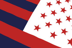 αμερικανική πλαστή σημαία Στοκ Φωτογραφία