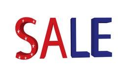 Αμερικανική πώληση στοκ φωτογραφία με δικαίωμα ελεύθερης χρήσης