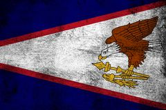 Αμερικανική Σαμόα σκουριασμένη και grunge απεικόνιση σημαιών ελεύθερη απεικόνιση δικαιώματος
