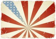 αμερικανική σημαία ανασκό& Στοκ Φωτογραφία