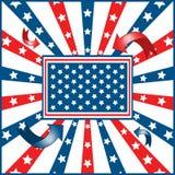 αμερικανική σημαία ανασκό& Στοκ Φωτογραφίες