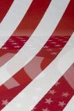 αμερικανική σημαία ανασκό& Στοκ Εικόνα