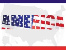 αμερικανική σημαία ανασκό& Στοκ Εικόνες