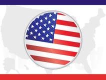αμερικανική σημαία ανασκό& Στοκ φωτογραφία με δικαίωμα ελεύθερης χρήσης