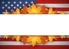 αμερικανική σημαία απαγορευμένα Ανασκόπηση φύλλων φθινοπώρου ελεύθερη απεικόνιση δικαιώματος