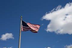 Αμερικανική σημαία για την ημέρα σημαιών, πατριωτική, συνήθεια, παράδοση για americ Στοκ εικόνα με δικαίωμα ελεύθερης χρήσης