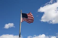 Αμερικανική σημαία για την ημέρα σημαιών, πατριωτική, συνήθεια, παράδοση για americ Στοκ φωτογραφία με δικαίωμα ελεύθερης χρήσης
