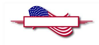 αμερικανική σημαία εμβλημάτων Στοκ εικόνες με δικαίωμα ελεύθερης χρήσης