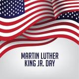 Αμερικανική σημαία ημέρας του Martin Luther King Στοκ Φωτογραφία