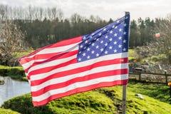 Αμερικανική σημαία, ΗΠΑ, πατριωτισμός Στοκ Φωτογραφία