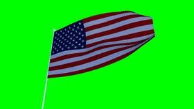 αμερικανική σημαία ΗΠΑ Cromakey απεικόνιση αποθεμάτων