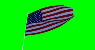 αμερικανική σημαία ΗΠΑ Cromakey ελεύθερη απεικόνιση δικαιώματος