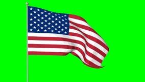 αμερικανική σημαία ΗΠΑ Cromakey διανυσματική απεικόνιση