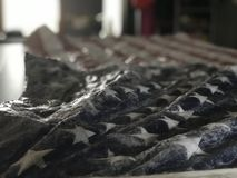 Αμερικανική σημαία θύελλας πάγου στοκ φωτογραφία