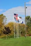 Αμερικανική σημαία και άλλες Στοκ εικόνα με δικαίωμα ελεύθερης χρήσης