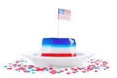 Αμερικανική σημαία και ζελατίνα στοκ εικόνες