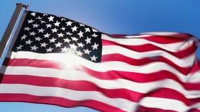 Αμερικανική σημαία και φως του ήλιου απεικόνιση αποθεμάτων