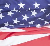 αμερικανική σημαία κινηματογραφήσεων σε πρώτο πλάνο Στοκ φωτογραφία με δικαίωμα ελεύθερης χρήσης