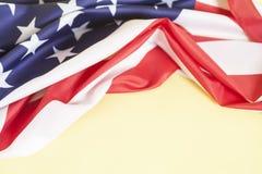 αμερικανική σημαία κινηματογραφήσεων σε πρώτο πλάνο Στοκ φωτογραφίες με δικαίωμα ελεύθερης χρήσης