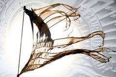 αμερικανική σημαία κουρελιασμένη Στοκ Εικόνα