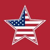 Αμερικανική σημαία με μορφή ενός αστεριού Στοκ φωτογραφίες με δικαίωμα ελεύθερης χρήσης
