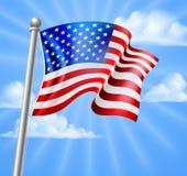 Αμερικανική σημαία με τον ουρανό διανυσματική απεικόνιση